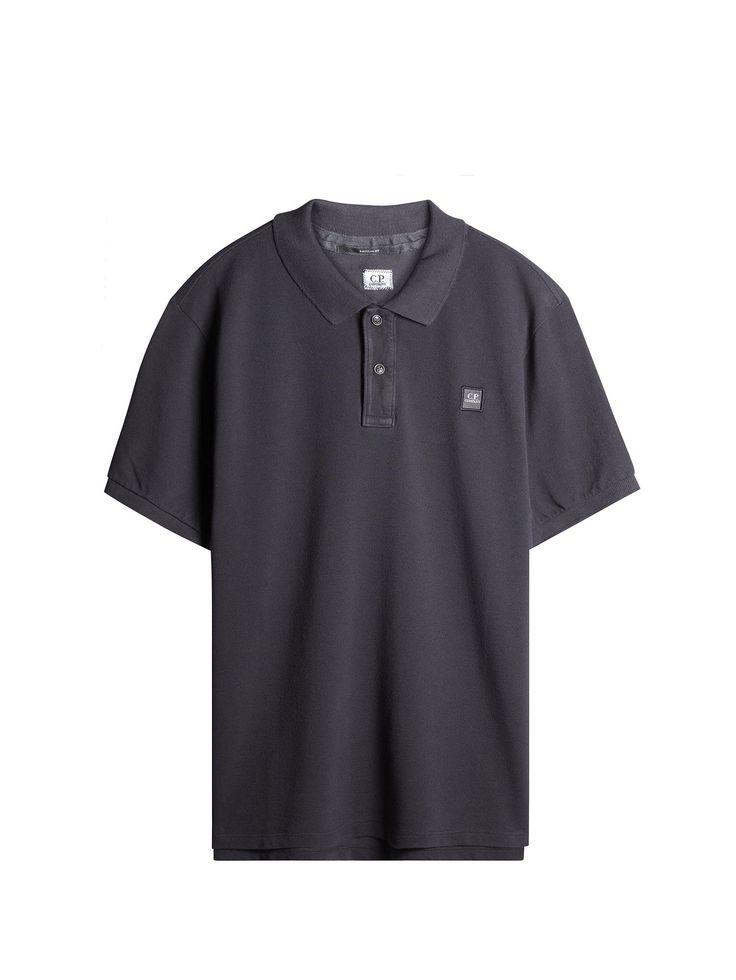 C.P. Company Cotton Pique Regular-Fit Polo Shirt in Dark Grey