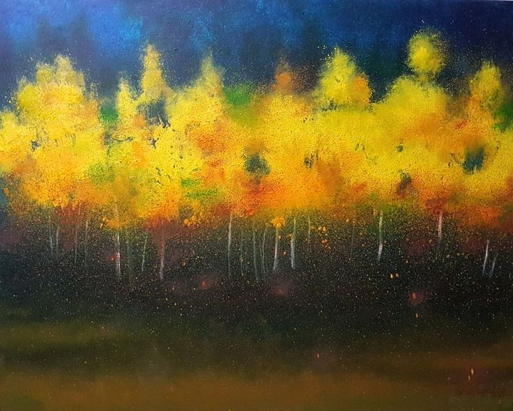 """Bloom"", an oil colour painting on canvas by a fine artist Bhanupratap Khare"
