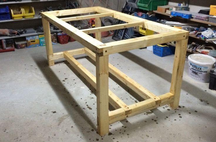 Eigenbau Werktisch – Das Grundgerüst
