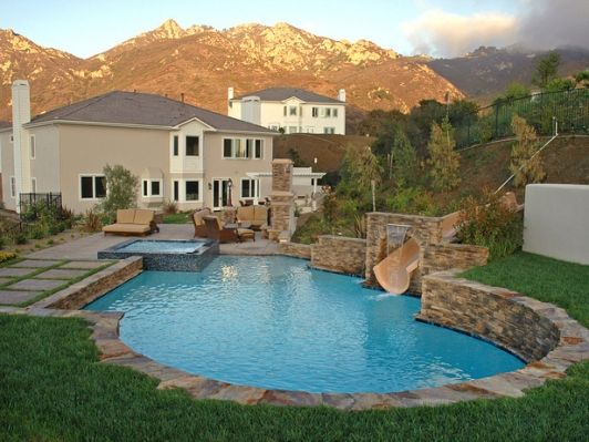 64 best pool dreams images on pinterest home ideas for Elaborate swimming pools