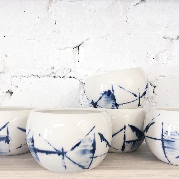 studio joo shibori tea bowls                                                                                                                                                      Mais
