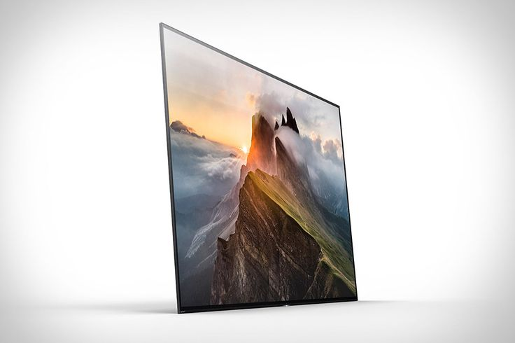 The Sony Bravia A1E is Sony's first OLED TV! It also features an impressive Acoustic Surface that basically turns the entire screen into a speaker!