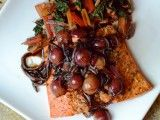 Salmon with Red Grape Agrodolce