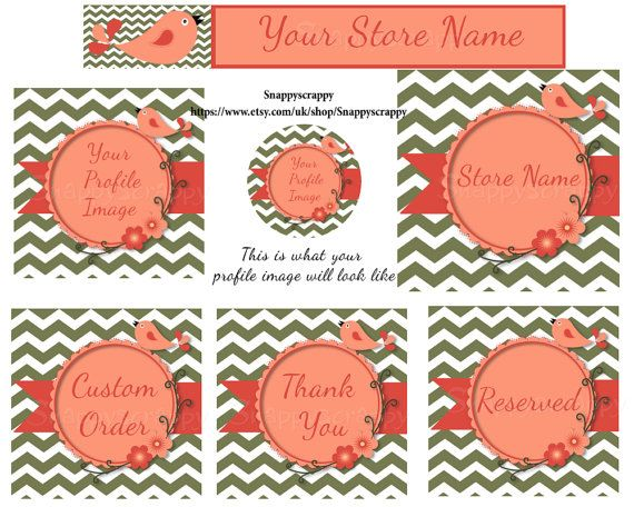 Etsy Store Banners Premade Banners Premade Etsy by Snappyscrappy