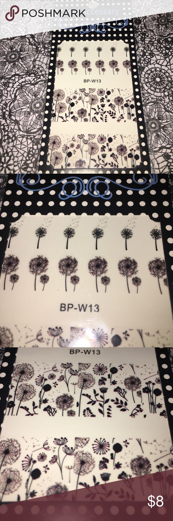 Brand new floral nail decals for manicures Manicure or pedicure nail decals Makeup