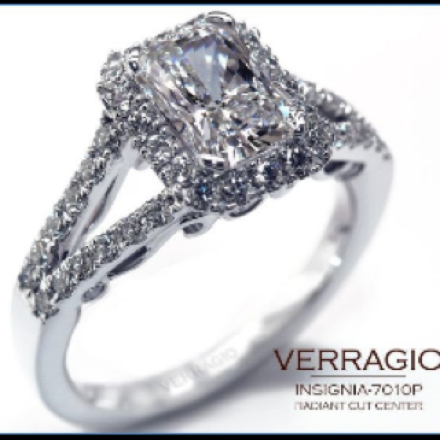 my ideal engagement ring emerald cut simple yet has some