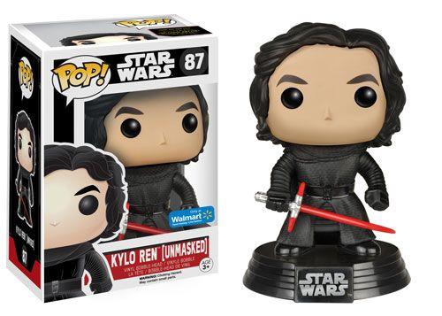 Star Wars The Force Awakens: Unmasked Kylo Ren Pop figure by Funko, Walmart exclusive