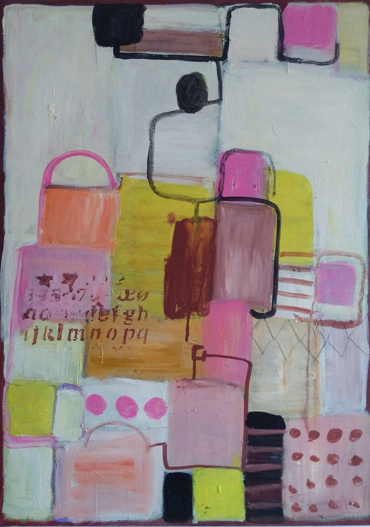 M.Kobus, abstract painting, acrylic painting, candy labirynth