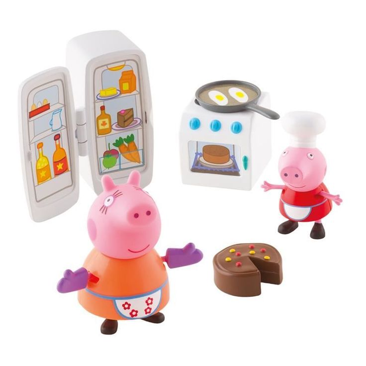 Peppa Pig Classic Toys Peppa Pig Kitchen Set Make up your own cooking stories or go camping with Peppa! Kitchen play set includes articulated Mummy figure and Peppa in her cooking outfit. Open up the fridge and see all the lovely food inside. In http://www.MightGet.com/april-2017-1/peppa-pig-classic-toys-peppa-pig-kitchen-set.asp