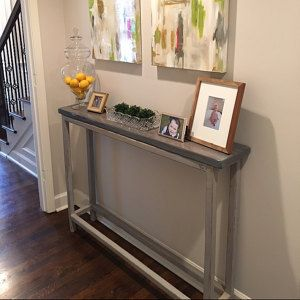 Narrow Entry Table by LaurenWinnDesign on Etsy