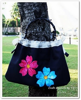 Hawaiian Chic Drawstring Tote - the other side