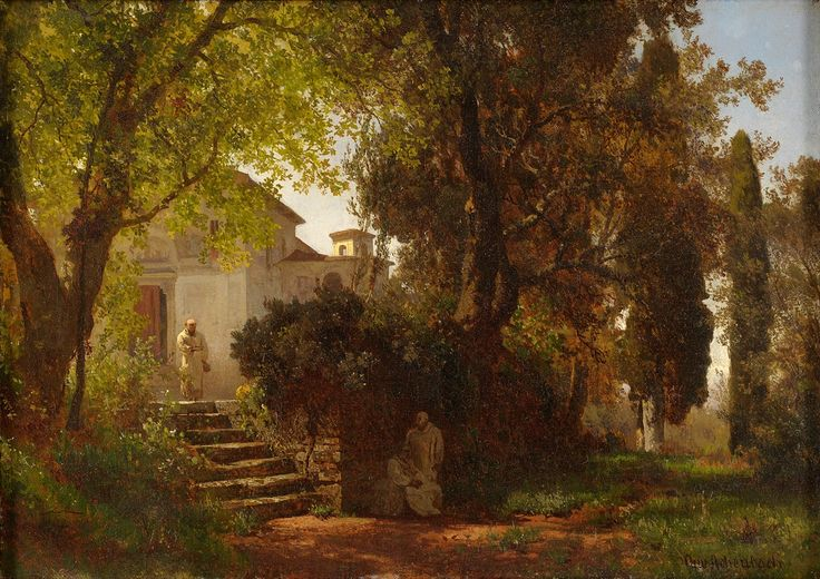 In the Park of Castel Gandolfo Oswald Achenbach - Date unknown