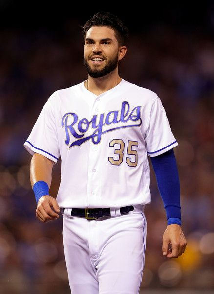Eric Hosmer Photos Photos - Eric Hosmer #35 of the Kansas City Royals smiles during the 8th inning of the game against the Cleveland Indians at Kauffman Stadium on June 2, 2017 in Kansas City, Missouri. - Cleveland Indians v Kansas City Royals