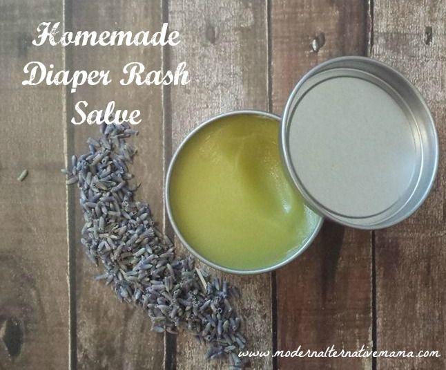 Simple 5-ingredient diaper rash salve -- perfect for healing sore, red skin quickly!