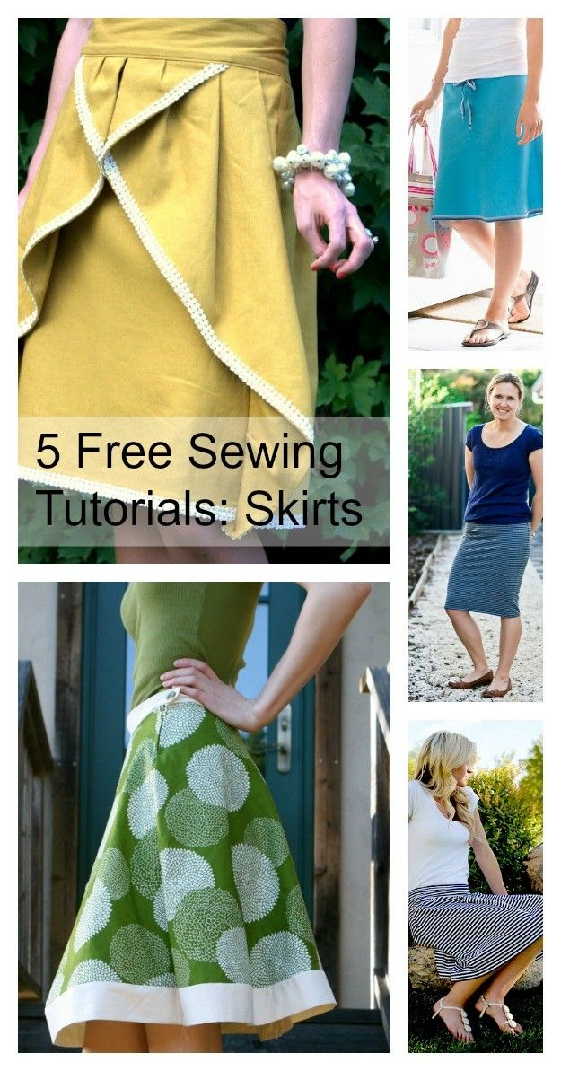 5 Free Skirt Patterns and Tutorials to Sew