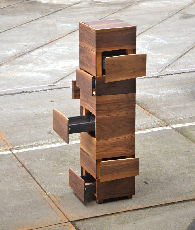 Kasten op maat gemaakt van natuurlijk gewelfde planken van BoleformGoeters