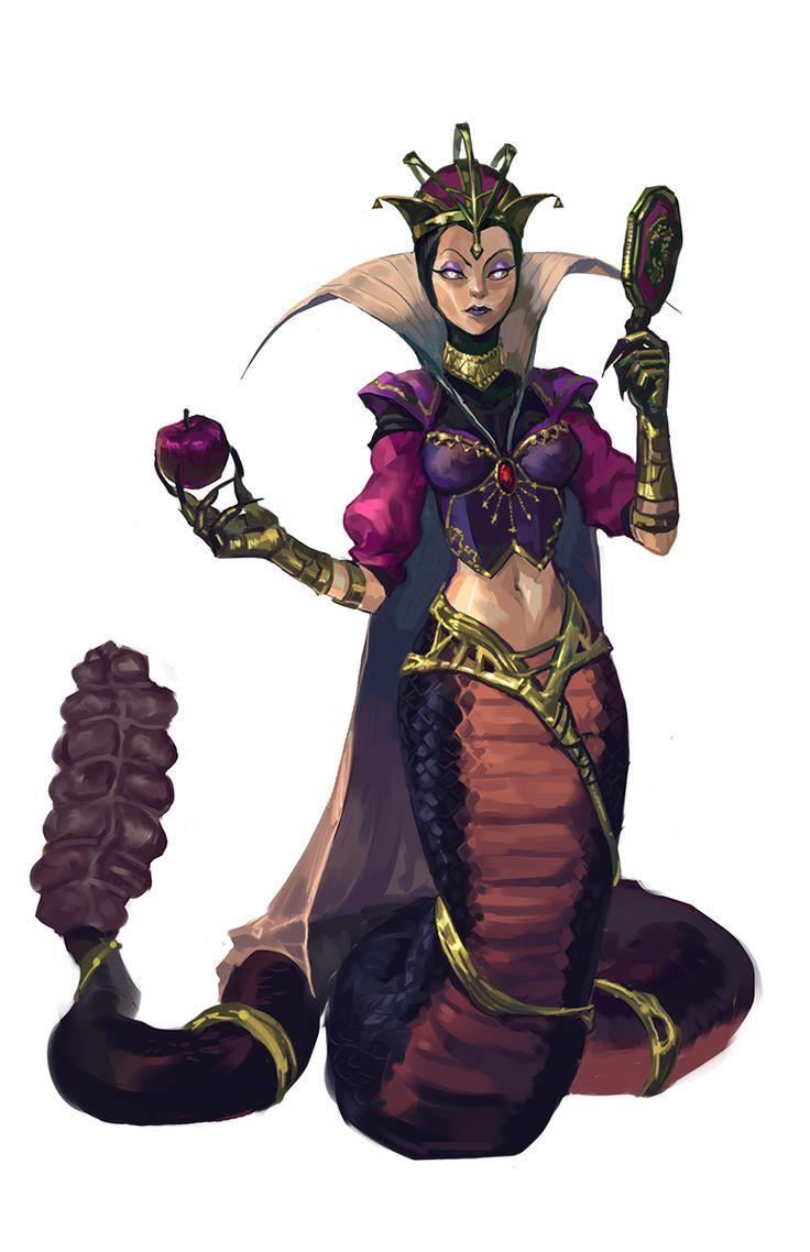 Evil Queen Cass by limsh - league of legends skin concept