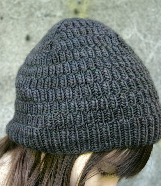 """Mistake rib"" knitted beenie."