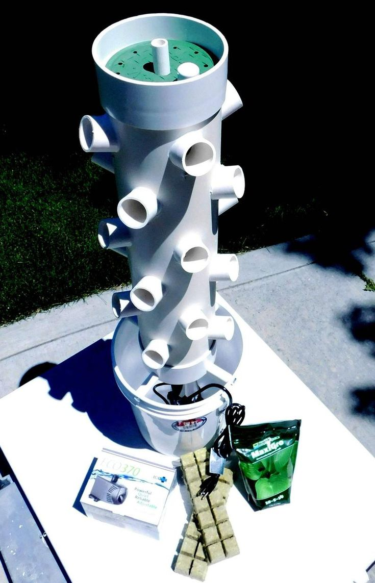 Hydroponic fun Tough Guy 24 pod grow tower   Hydroponic ...