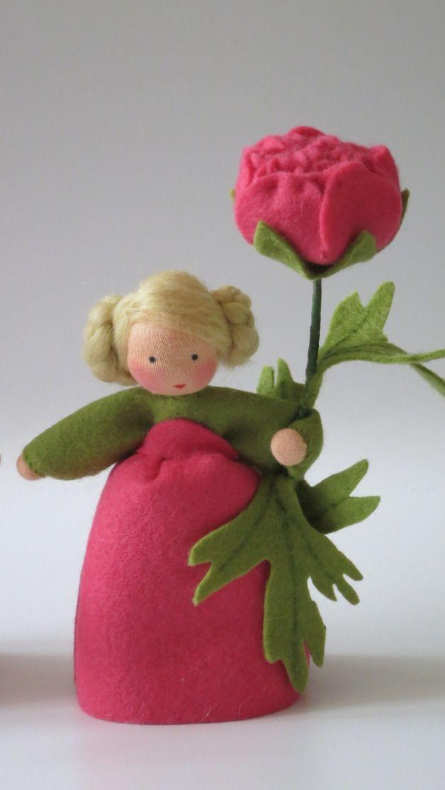 Frühling - Ranunkel - Blumenkind - Jahreszeitentisch - ein Designerstück von Katjas-Puppenstuebchen bei DaWanda