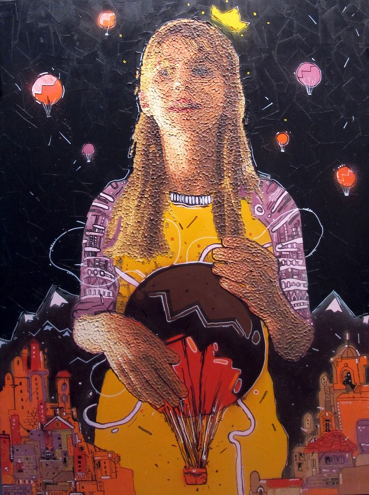 160cm*120cm 'balon' 2014 oil on canvas and mixed technical