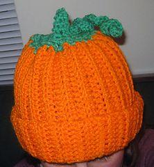 Free Crochet Pumpkin Hat Pattern.