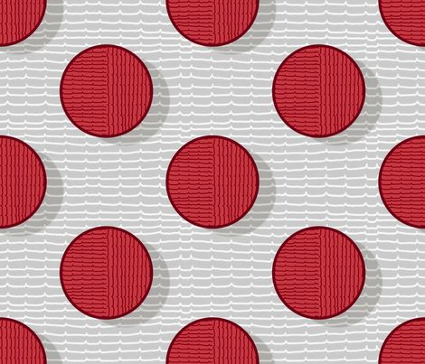 pois in red fabric by chicca_besso on Spoonflower - custom fabric