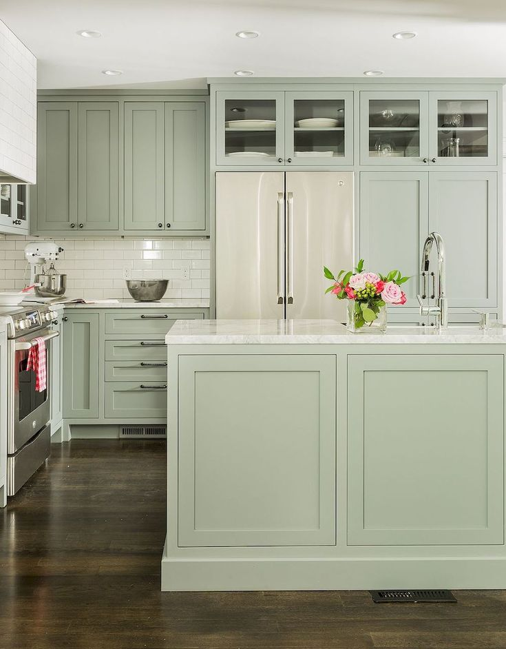 Awesome Sage Greens kitchen Cabinets (13   Ideas for the ...