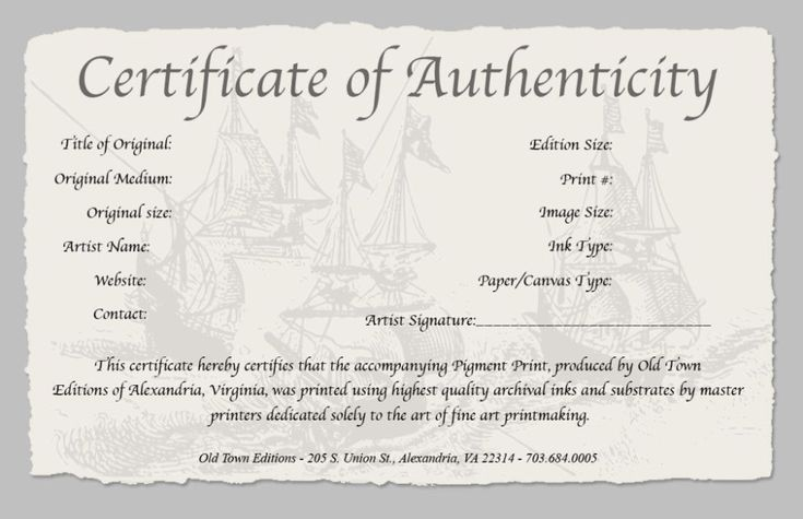 Certificate Of Authenticity Template 4 Templates Example Templates Example Photography Templates Certificate Templates Certificate