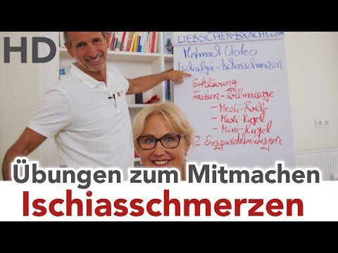 Ischiasschmerzen // Übungen zum Mitmachen // unterer Rücken, akuter Kreuzschmerz - YouTube