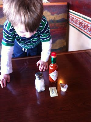 """10 games to play with children in a restaurant while waiting for food--why isn't the """"Spill Your Drink"""" game on this list?  or the """"Rip Open Sugar Packets"""" game?  or the """"Look for Gum Under the Table"""" game?"""