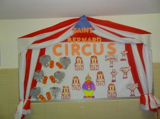 Circus or Carnival Themed Back To School Math Bulletin Board Idea