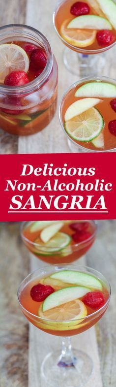 This delicious non alcoholic sangria is the perfect beverage for parties or when you have guests over.