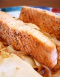 Honey Salmon with Turnips Recipe : Try this delicious salmon basted with a sweet honey lemon glaze. Paired with the mellow flavors of sautéed turnips and onions, this fish recipe is a complete meal loaded with healthy fats.