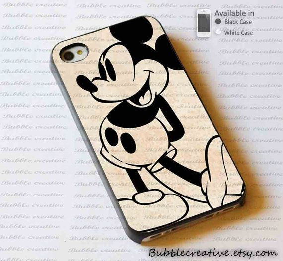 Mickey mouse old disney Case for iphone 4/4S, 5/5C/5S and Samsung Galaxy S3/S4 case on Etsy, £9.20