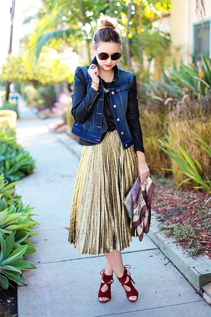 17 Best ideas about Gold Skirt on Pinterest | Gold skirt outfit ...