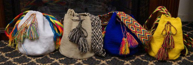 CAD$100. Beautiful handmade Wayuu bag from La Guajira, Colombia. #mochila