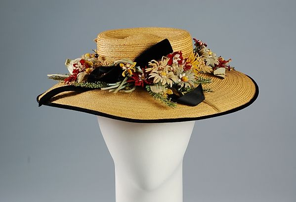 Hat, Jay-Thorpe, Inc., Straw, synthetic, American ca. 1942