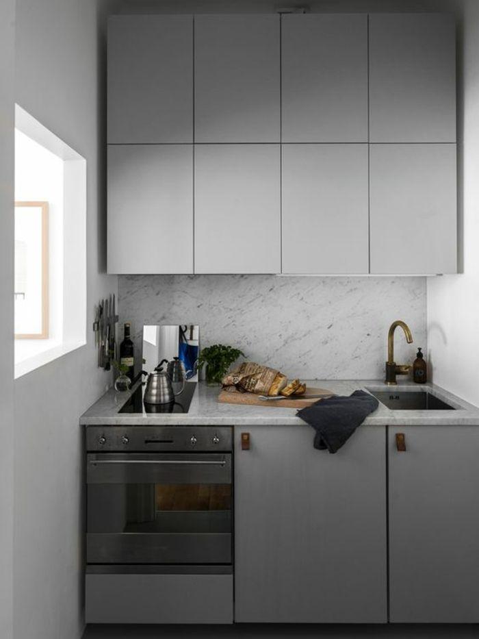 1001 Idees Pour Une Petite Cuisine Equipee Des Interieurs Gain De Place En 2020 Designs De Petite Cuisine Cuisines De Maison Minuscules Interieur Moderne De Cuisine