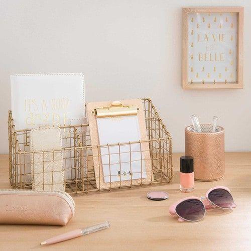 porte courrier en m tal dor gold objets d co pinterest deco chambre deco rangement et deco. Black Bedroom Furniture Sets. Home Design Ideas