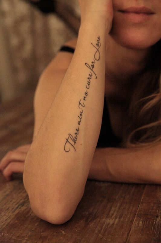 f1674893480c3 25 Quote Tattoo Design Ideas For Women | Tattoo Designs | Writing ...