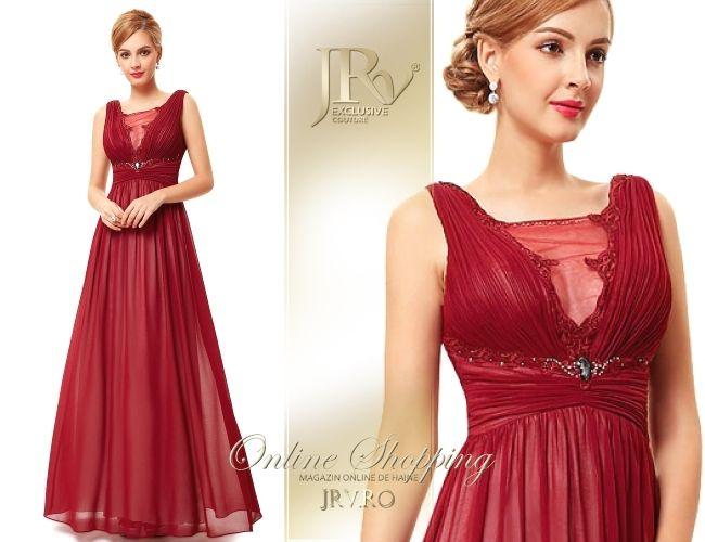 Rochie de seara Amanda Red - JRV Exclusive Couture // JRV.ro