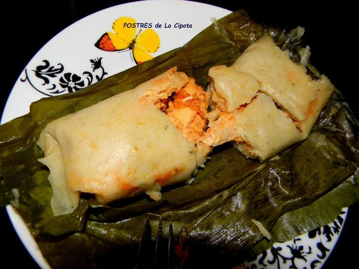 La Cipota: Tamales Salvadorenos. Gma makes it potato, carrot, pork/chicken.- DONE he wants cheese in them wth