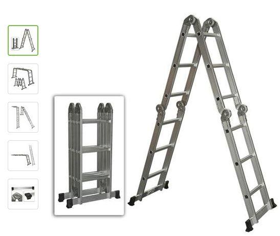 Multi Purpose Aluminum Ladder Folding Step Ladder Scaffold Extendable Heavy Duty $79 Shipped!! (Reg $179.95) - http://couponingforfreebies.com/multi-purpose-aluminum-ladder-folding-step-ladder-scaffold-extendable-heavy-duty-79-shipped-reg-179-95/