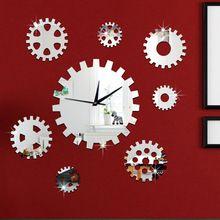 # S roue dentée horloge Murale mode horloge créatrice horloge et miroir horloge murale Personnalité belle et belle de haute qualité(China (Mainland))