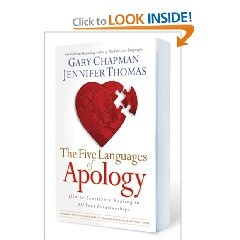 The Five Languages of Apology: How to Experience Healing in all Your Relationships [Paperback], (christianity, marriage counseling, apology, book, communication, counseling, couples, elizabeth baker, love, relationships)