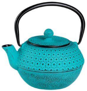 Silea 222/8540 Teapot 1.2 L Cast Iron Turquoise: Amazon.co.uk: Kitchen & Home