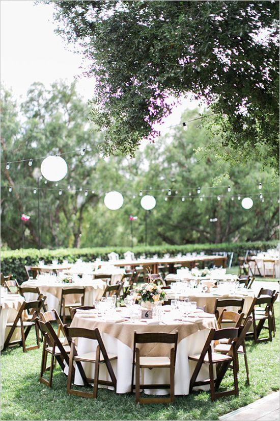 Elegant Garden Glam Wedding   Outdoor wedding reception ...