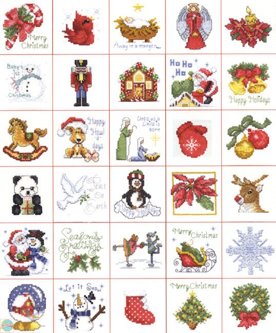 mini cross stitch jingle bell pattern - Google Search