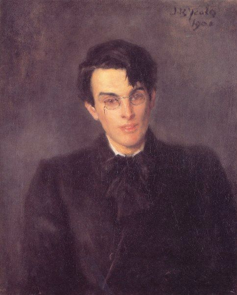 William Butler Yeats as painted by his brother, Jack Yeats, 1900.